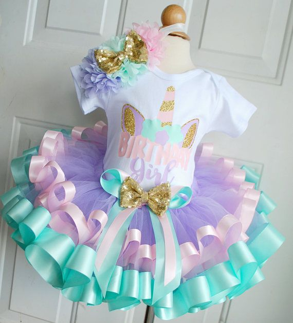 Unicorn Birthday Girl Outfit .  Jillian Nicole Designs on Etsy.
