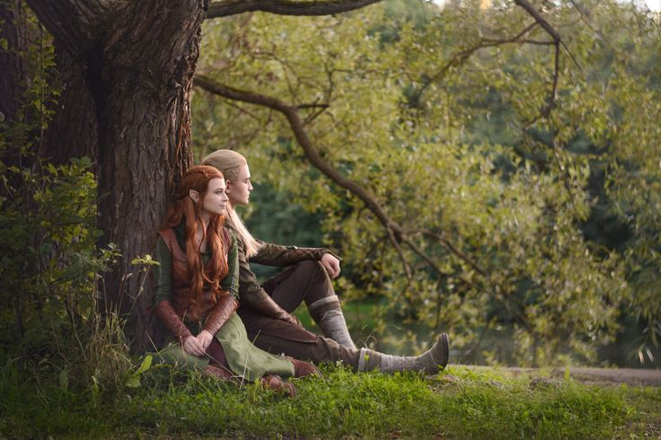Legolas and Tauriel - The Hobbit cosplay by LuckyStrikeCosplay