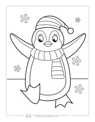 Winter Coloring Pages Coloring sheets for kids, Penguin