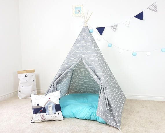 Grey with Big Arrows Kids Teepee  Teepee Tent  Wigwam Play