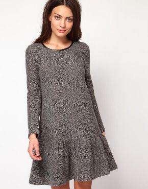 Дизайнерское зимнее шерстяное платье Whistles