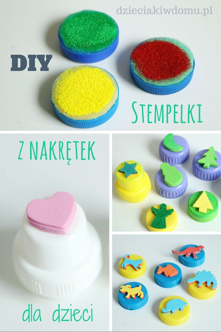 stempelki DIY dla dzieci