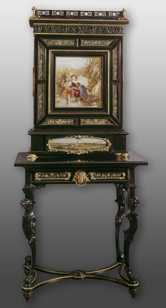 Cabinet on stand , London, England          ( date 1855 )