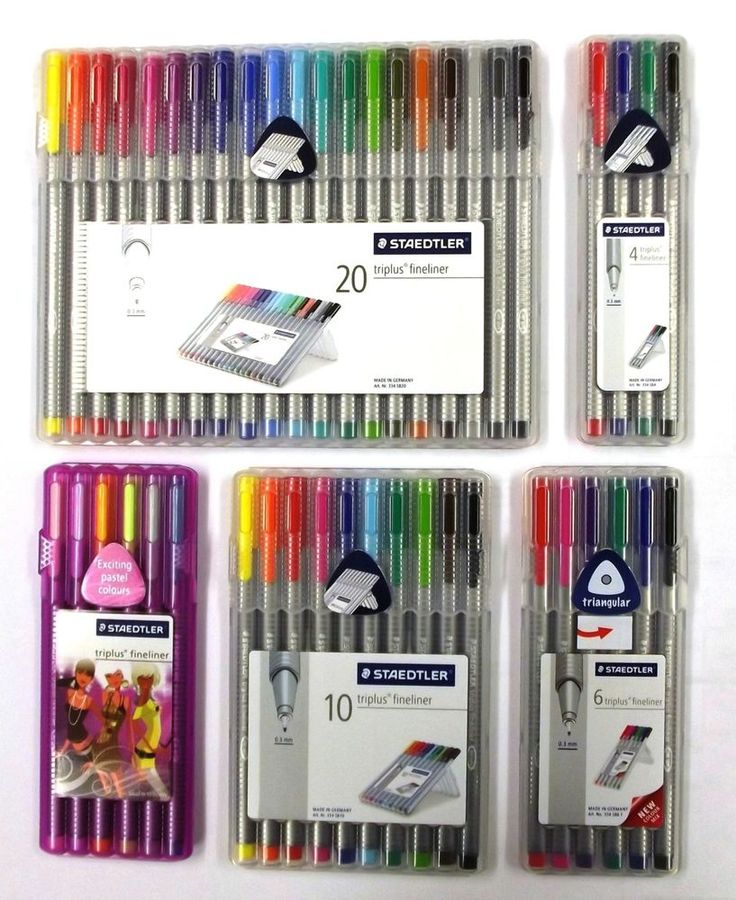 STAEDTLER TRIPLUS FINELINER PENS - Boxes of 4, 6, 10 or 20 assorted colour pens! £7.75