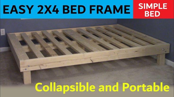 2x4 queen bed cheap easy portable in 2020 queen bed