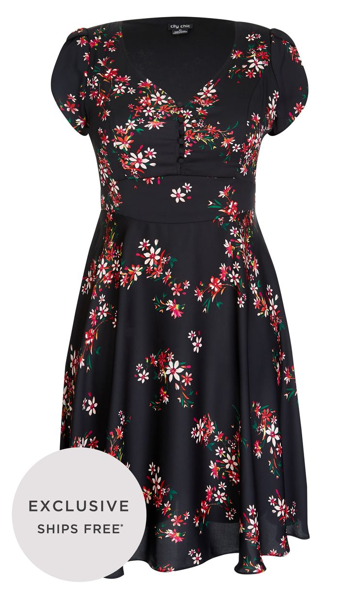 Sweet and demure, fly into Spring in the Delicate Flower Dress.  Key Features Include: - V neckline - Button up front - Darted bust - Floaty cap sleeve - Attatched tie up waist sash - Knee length floaty A-line skirt - Partially lined
