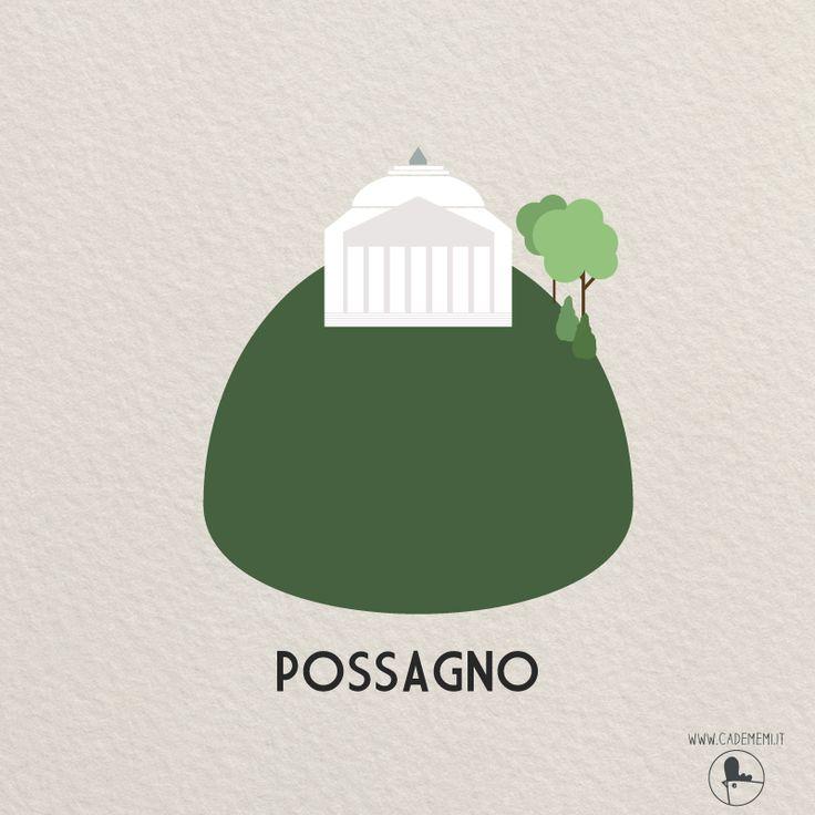 Possagno, Canova's Temple, Tempio di Canova, Italy - Visit Veneto. Illustration by Elena Scquizzato from Ca' de Memi