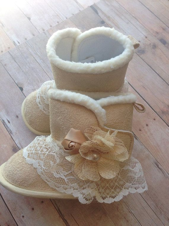 Lace Boots Chic Baby Boots Infant Boots Infant by GabbyandCompany, $21.99