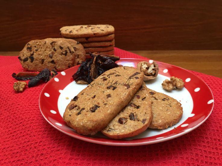Jó Reggelt keksz házilag, diós-aszalt szilvás, egészséges és finom, E és tartósítószer mentes, recept fázisfotókkal, Kocsis Hajnalka receptje