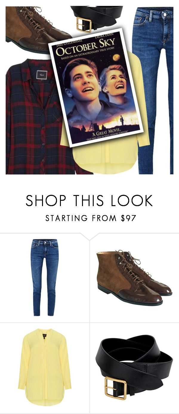 """21/50: October Sky (1999)"" by megan-vanwinkle ❤ liked on Polyvore featuring Acne Studios, Robert Clergerie, Alexander McQueen and polyvoreeditorial"