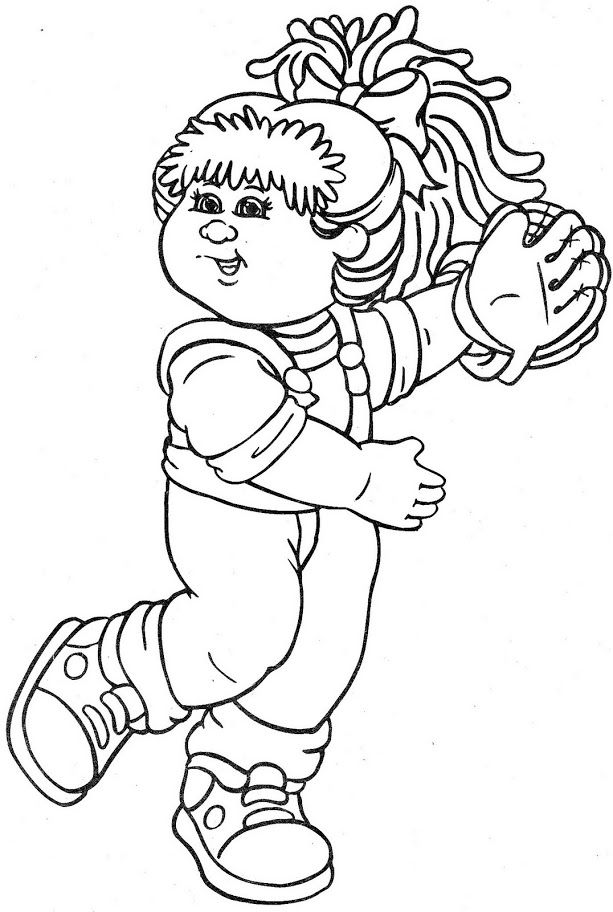 47 best Still Love to Color-Cabbage Patch Kids images on