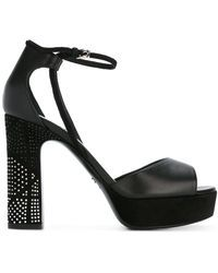 Dior | - High Heeled Sandals With Silver Tone Heel Embellishment - Women - Calf Leather/leather/rubber - 36 | Lyst