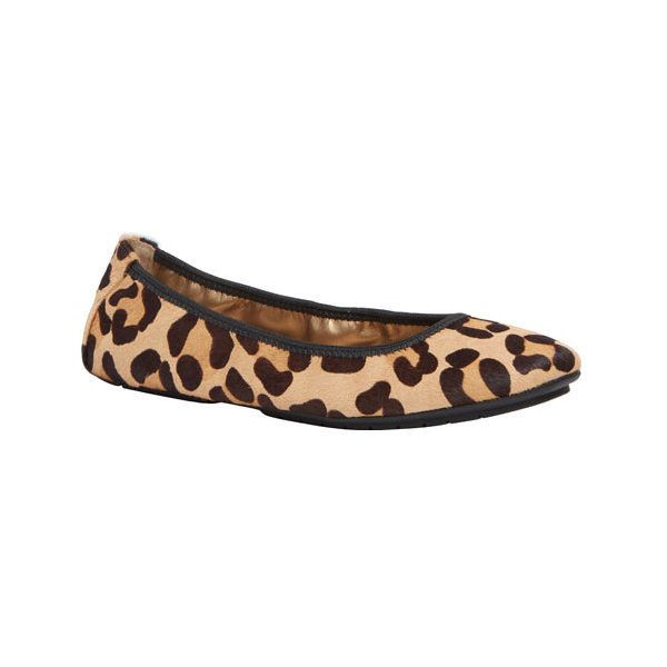 Women's Me Too Icon Ballet Flat ($70) ❤ liked on Polyvore featuring shoes, flats, ballet flats, casual, ballet pumps, black ballerina flats, black flats and animal print flats