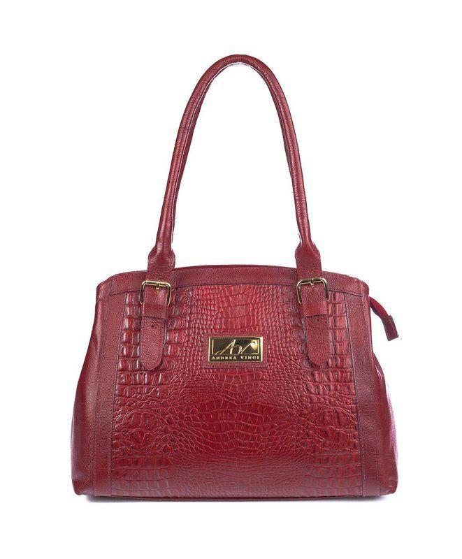 Bolsa tradicional em couro Andrea Vinci vermelha - Enluaze Loja Virtual   Bolsas, mochilas e pastas