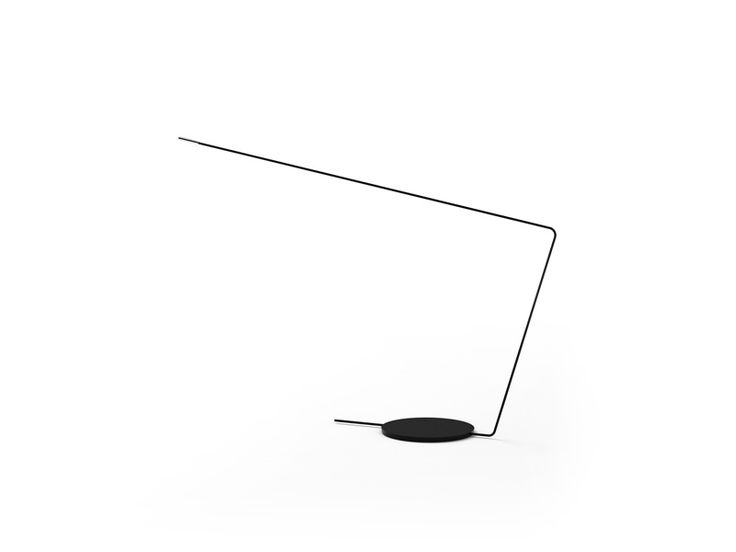 Table indoor lamp fixture IP20. Extrusion manufactured arm and recessed steel base. Finished in chrome or black.