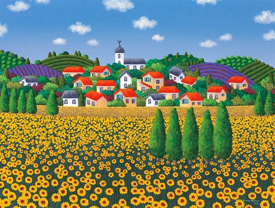 Quot Sunflower Harvest Quot By Joanne Netting Depicts A Provence