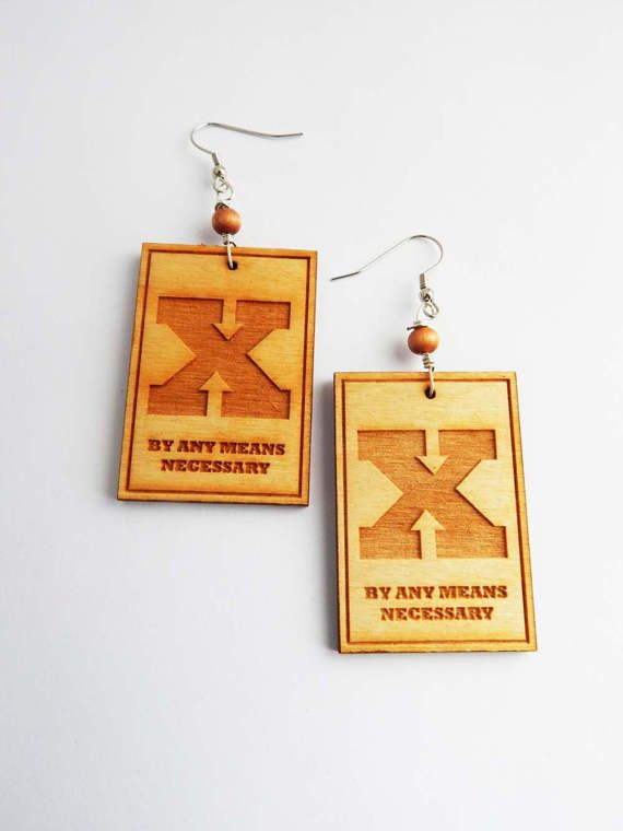 X Earrings By Any Means Necessary Social Justice By Any Means Necessary Men Hip Hop African Black Lives Matter by TheBlackerTheBerry
