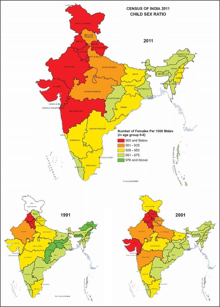 Deteriorating Child Sex Ratio in Indian states (1991-2001-2011) [1257x1754]