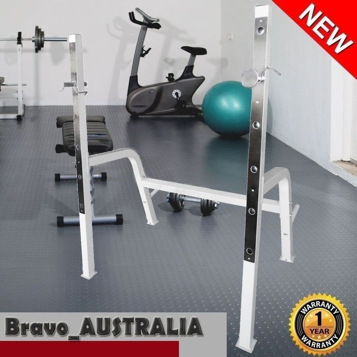 Squat Rack Stand 250kg Adjustable Olympic Home Gym Weight Training Bench Press #benchpressweighttraining