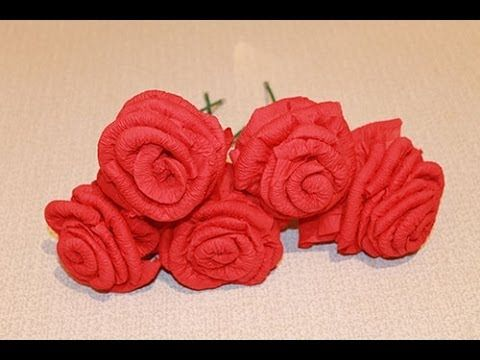 Как сделать ЦВЕТЫ ИЗ САЛФЕТОК / Beautiful Paper Flower / ✿ NataliDoma - YouTube