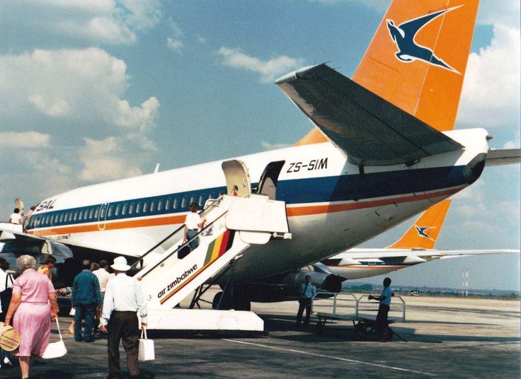 SAA 737-200 ZS-SIM, Harare Airport 03/06/1982