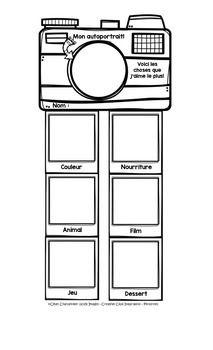 Description: Voici une petite activit amusante  faire en dbut d'anne pour en apprendre un peu plus sur vos lves. L'lve doit se dessiner la tte dans la camra et dessiner les choses qu'il aime le plus dans les petites photos. Format LEGAL:)Images Creative Clips : https://www.teacherspayteachers.com/Store/Krista-WalldenVous dsirez obtenir des documents ou des activits gratuites sur TpT?
