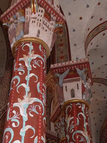 details in one of the romanesque churches there. this one is in issoire.