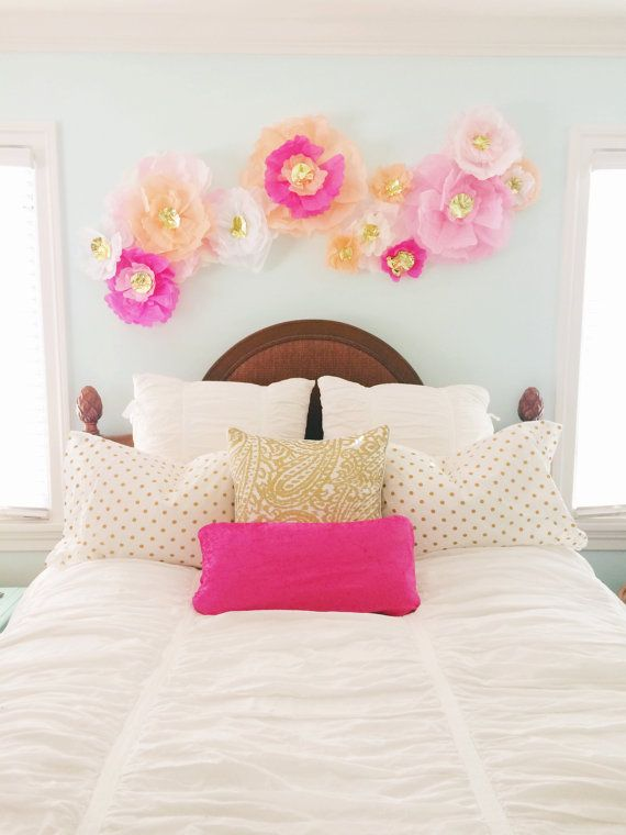 Wall Decoration Paper Flowers : Best ideas about flower wall decor on paper