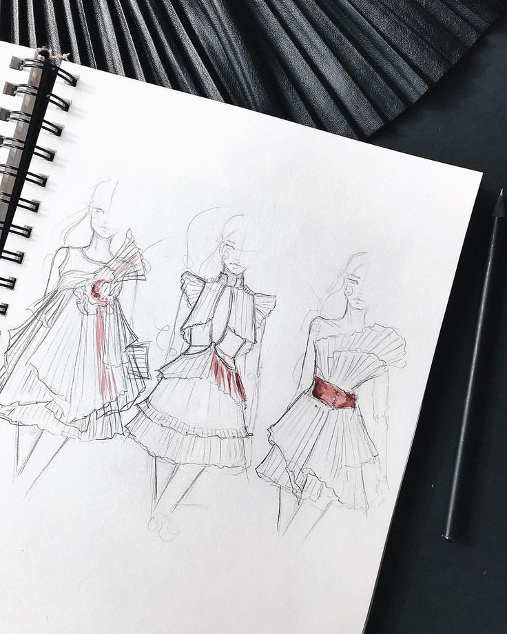 """1,901 Likes, 20 Comments - M a r i n a (@marina_oberlin) on Instagram: """"quick sketches with pleats…"""""""