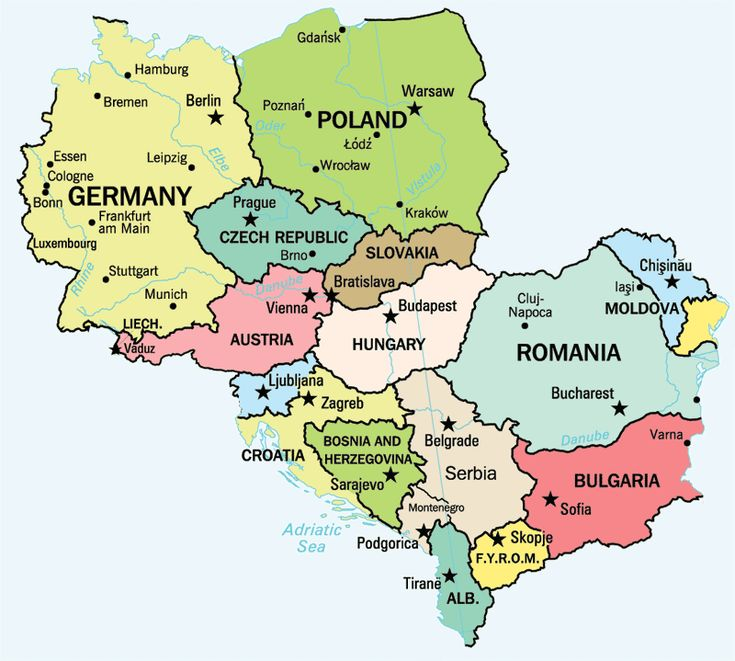 Image result for eastern europe map