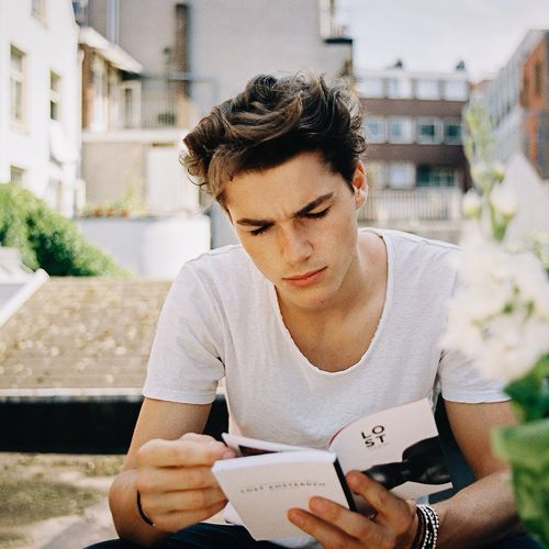 Jack Harries in Amsterdam, photographed by Ella Denton (2014)