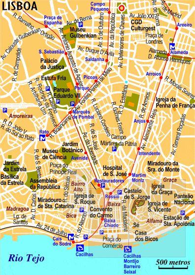 Carte de Lisbonne - Plan de Lisbonne
