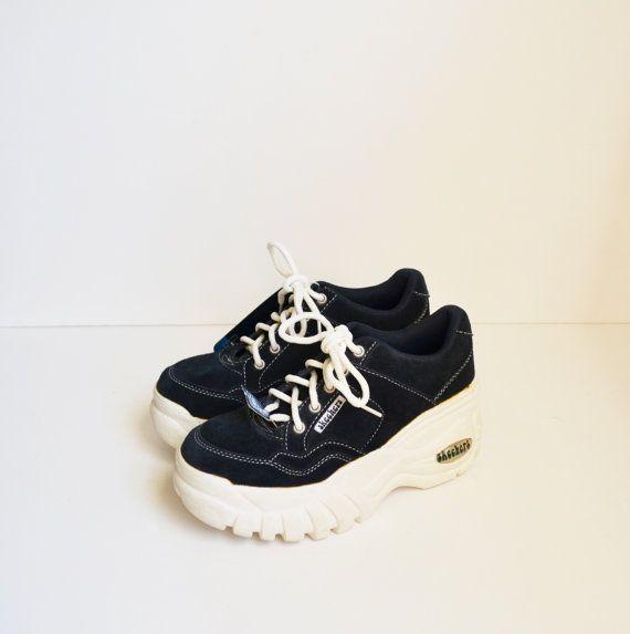 Skechers Sneakers Platform Sneakers Skechers Platform Shoes Blue and White Sneakers 90s Shoes Skechers Kicks Rave Club Kid Size 7