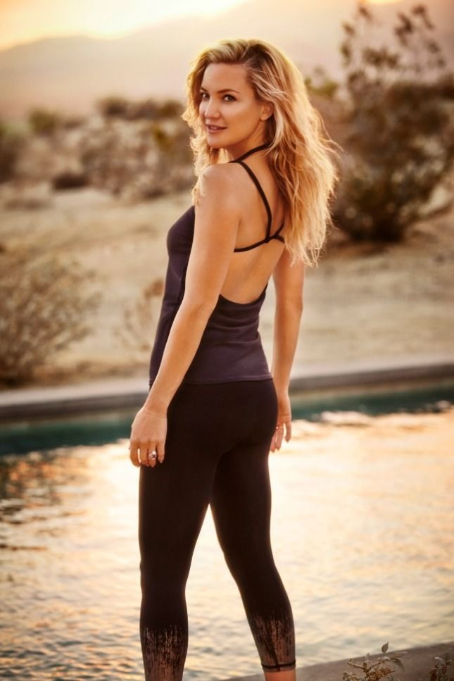 "KHudson Fabletics ""My fitness ambition is internal. It's all about feeling connected to myself."" Kate Hudson"