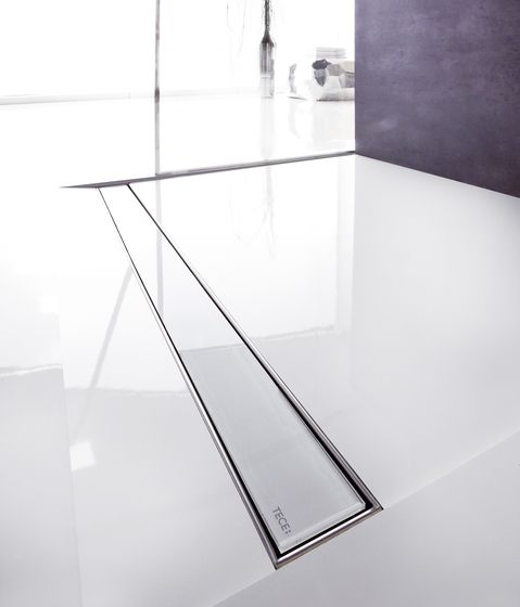 TECEdrainline shower channels glass by TECE | schwarz | ..