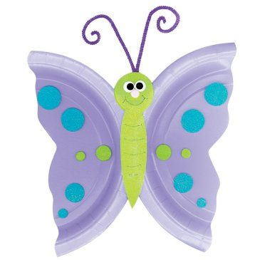 Butterfly craft with paper plates