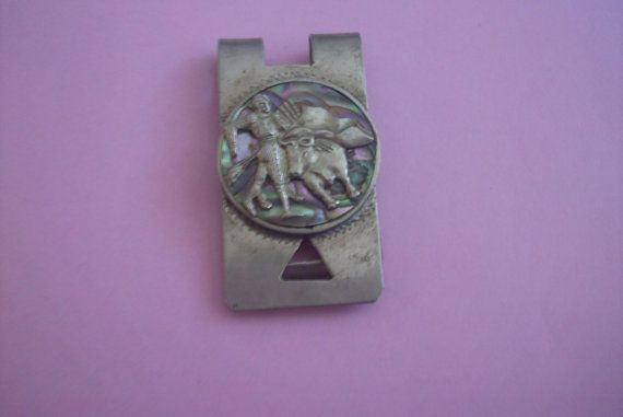 25 OFF SALE Sterling Silver Taxco Bull Fighting Money by MICSJWL, $56.25