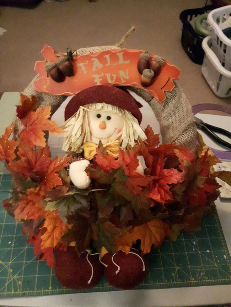 Fall wreath for my mommy