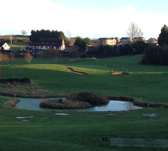 A view of the eighth hole par three at Crossgar