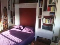 cama rebatible  2 plazas + biblioteca + 4 cajones