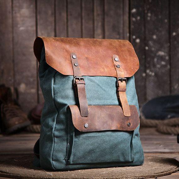 Jade vert sac à dos dans une Fusion de cuir par VibrantLeathers, $59.99