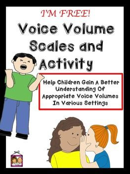 FREE! Some children struggle to understand how their voice volume level and tone of voice affects others around them. They may lack the perspective taking skills to understand that their behaviors affect how others feel about them. They may not understand what voice volumes are expected in particular locations or situations, and / or may not be able to adjust quickly and accurately, in our dynamic social world.