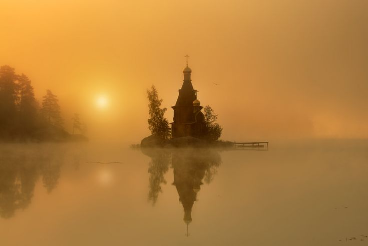 Russian church by Eduard Gordeyev