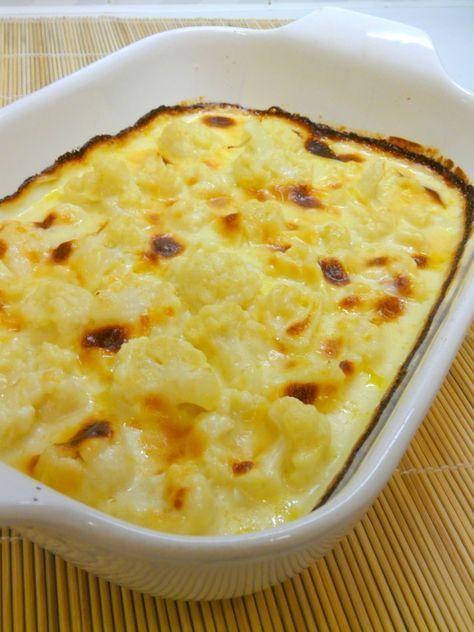 Coliflor con salsa de queso