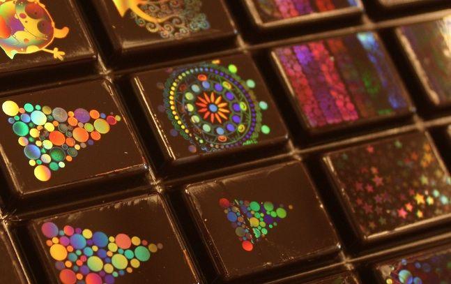 Cioccolatini con ologrammi