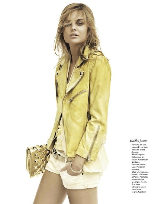 : France No 134, Dimphi Jan, Colors Leather, Jackets Junkie, Street Stylehip, Leather Jackets, Grace France, Yellow Jackets, Embrace Style