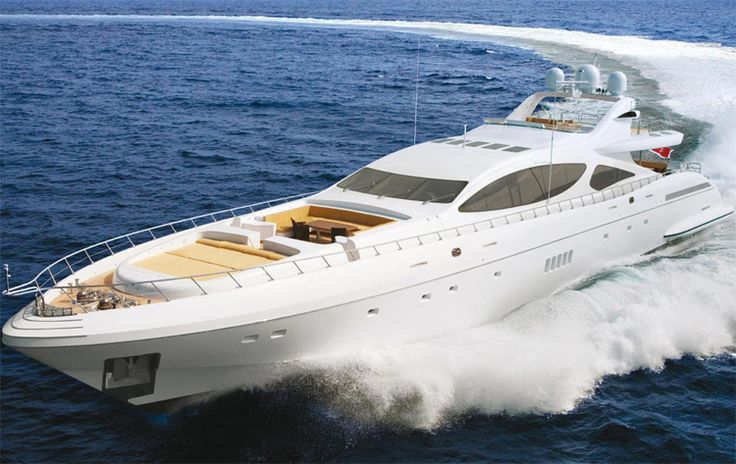 """The World's Biggest Open Yacht"" Mangusta 165. I'll have to win a really BIG Lotto for this baby!"