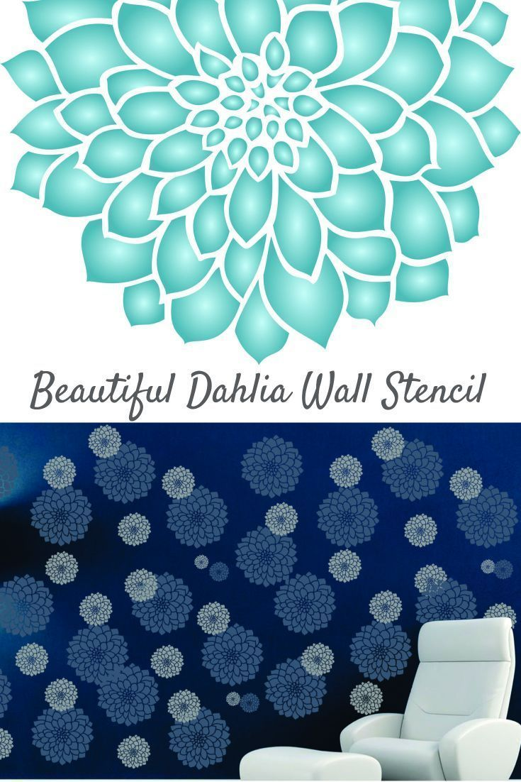 84 best extra large stencils images on pinterest ceiling this beautiful flower stencil design is ideal for creating some sophisticated floral patterns on your walls amipublicfo Image collections