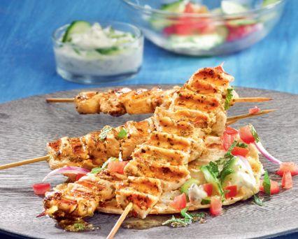 Greek-style Chicken Skewers Recipe -