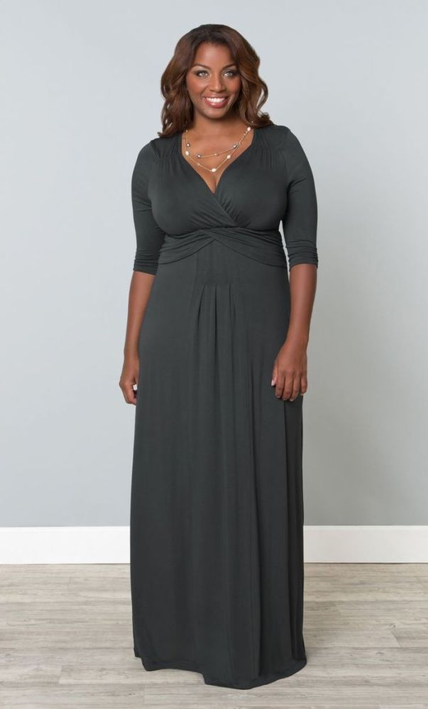 You're stunning in this flowing empire waist maxi gown